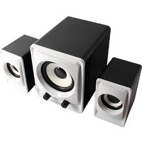 Ambrane SP-100 Laptop/Desktop Speaker 2.1 Portable Laptop/Desktop Speaker  (Black, 2.1 Channel)