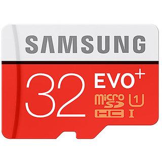 Samsung 32 GB Evo+ Class 10 MicroSDHC 80MB/Sec (With Adapter)