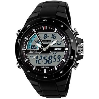 Skmei 1016-Black Chronograph Analog-Digital Watch - For Men