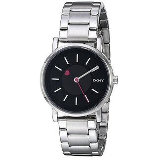 DKNY Ny2268 Round Black Stainless Watch For Women