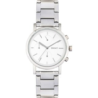 DKNY Ny2273I Round Silver Stainless Watch For Women