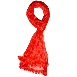 v.s red cotton scarf