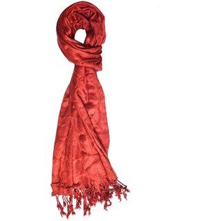 v.s red self design scarf
