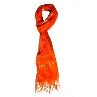 v.s orange cotton scarf
