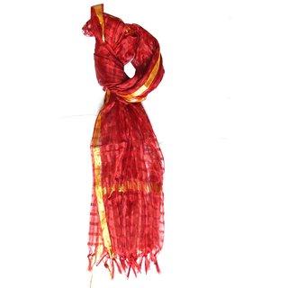 v.s red check design net scarf