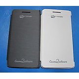 Micromax Canvas 2 Colours A120 Leather Diary Flip Cover(BLACK/WHITE)