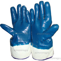 Garden Hand Gloves Multipurpose Heavy Duty Blue Nitrile Coated Protective