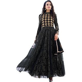 Breathtaking Black Net Floor Length Anarkli Suit