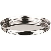 Grish Stainless Steel Italian Plates Size 12 (Thali Set Of 6)