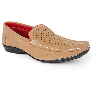 Branded Brown Leather Loafers