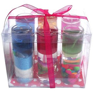 6thdimensions Perfect Size Shot Candle Glass 8cm Multicolor Candle (Pack of 12)