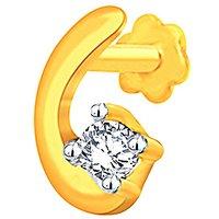 Beautiful Sparkling Diamond Nosepin GIJ00022SI-JK14Y