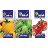 Omaxe Capsicum Yellow + Capsicum Imported Green + Imported Red Capsicum