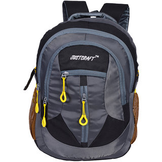 Justcraft Hunk Black and Grey 35 Liters Backpacks