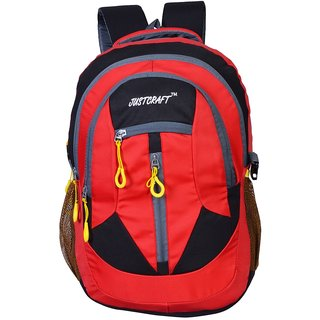 Justcraft Hunk Black and Red 35 Liters Backpacks