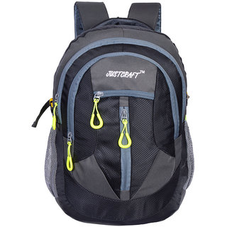 Justcraft Hunk Grey and Black 35 Liters Backpacks