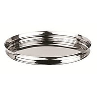 Grish Stainless Steel Italian Plates Size 15 (Thali Set Of 4)