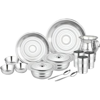 Airan Blossom 51 Pcs Stainless Steel Dinner Set