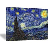 """The Starry Night By Vincent Van Gogh Canvas Print Gallery Wrapped - 16 X 20"""""""