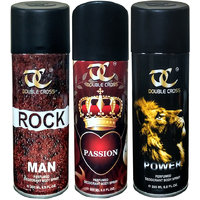 Pack Of 3 MTV Double Cross Deodrants For Men(ROCK+PASSION+POWER)