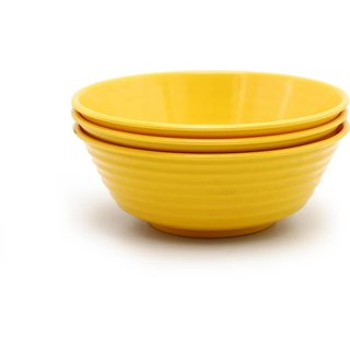 Roni Wares Melamine Popcorn Bowl Set of 6 Yellow