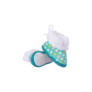 Guchu Infant/New Born Baby Bootie/Shoes Dotted Print-Green