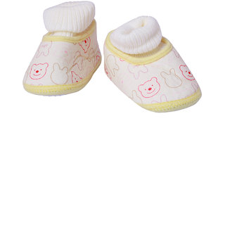 Guchu Infant/New Born Baby Bootie/Shoes Towel Top-Light Yellow