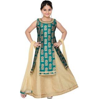 Adiva Girls Party Wear Lehenga Choli Set For Kids