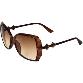 Zyaden Brown Oversized Sunglasses For Women 351