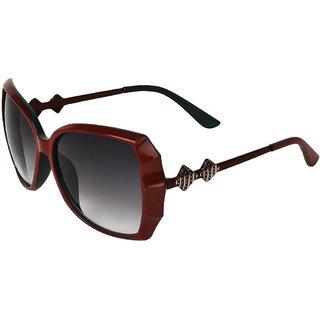 Zyaden Red & Green Oversized Sunglasses For Women 353