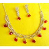 Exclusive Designer Cz Diamonds Gold Plated Necklace Set