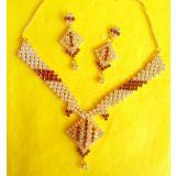 Exclusive Designer CZ Diamonds Gold Plated Necklace Sets