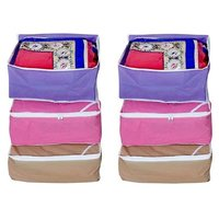 Fashion Bizz Regular Multi-Saree Cover 6-Pcs Combo