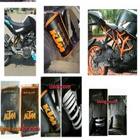 Mono shock cover for Ktm Duke and Rc aftermarket powerpart bike accessories