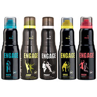 Engage Urge, Mate, Rush, Jump, Frost Deodorants 150ml Each (For Men) [ack Of 3