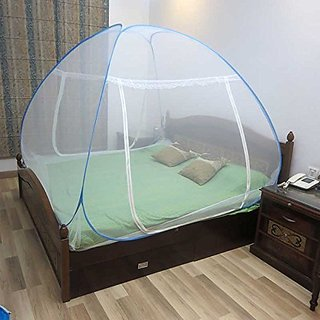 Urban Living Blue Double Bed Foldable Mosquito Net
