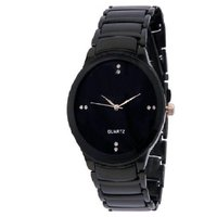 ikk Oval Dial Black Metal Strap Analog Men's Watch  by  mioss