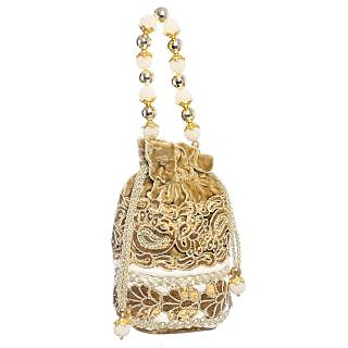 Geetanjali Decor Womens Potli Bag (cut work border)
