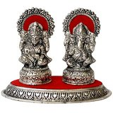 Metallic Laxmi Ganesh White Metal