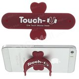 Universal Portable Touch-U One Touch Silicone Stand For IPhone Samsung HTC (RED)