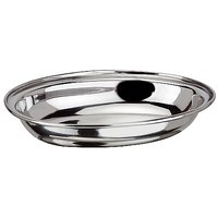 Grish Stainless Steel Dahi Vada Plates Size 4 (set Of 6)