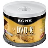 Sony DVD R Spindles 50PK DVD-R 4.7GB 16X-Spindle