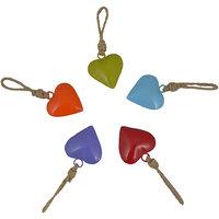 Trends India Decorative Coloured Hearts Set Of 5 Pcs. - 4401714