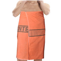 Deal Wala 1 Piece Set Of Russian Cotton Bath Towel -  Orange