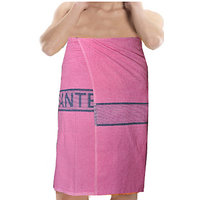 Deal Wala 1 Piece Set Of Russian Cotton Bath Towel - Pink