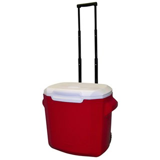 28 Quart Wheeled Cooler - Red