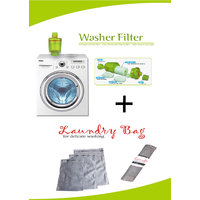 Washing Machine Filter, FREE Laundry Mesh Washing Bag, Set Of 3 Bags