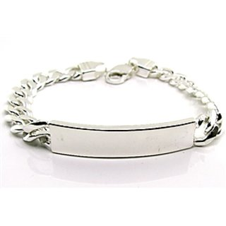 Men's ID Solid .925 Sterling Silver Curb Link Chain Men Bracelet
