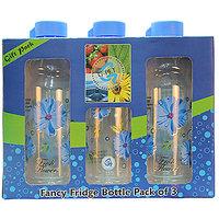 G-PET Fancy Fridge Water Bottle 1 Ltr Blue - Gift Set Of 3