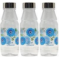 G-PET Fridge Water Bottles Rose 500 Ml Blue With Steel Cap - Set Of 3